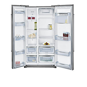 NEFF American Style Fridge Freezer Stainless Steel KA7902I20G