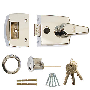 Replacement Front Door Lock 40mm Satin