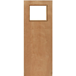 External Ply Flush Fire Door 30 Min Glazed 1981 x 762 x 44 Door