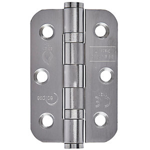 Eclipse 3Inch Radius Corner Hinge - Ball Bearing (76mm) CE Satin Stainless