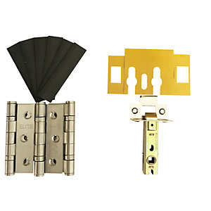 Firestop Fire Door Grade 7 Hinge & Latch Pack Stainless Steel