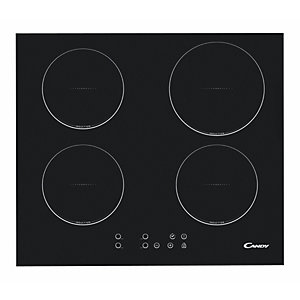 Candy 60Cm 4 Zone Induction Hob With Independent Cooking Timers Black Ci640Cba