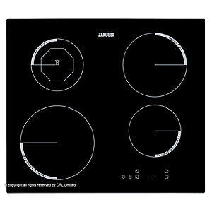 Zanussi Frameless 4 Ring Induction Hob Touch Control Plug and Play Black 60cm ZEI6840FBA