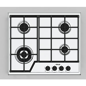 neue 60 cm Gas Hob with Cast Iron Pan Supports GHCS601SS
