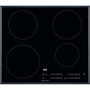 AEG 60cm Slimline 4 Zone Induction Hob with HOB2HOOD Black IKB64401FB