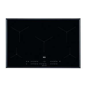 AEG 80cm Slimline Maxisense 5 Zone Induction Hob with HOB2HOOD Black IKE85431FB