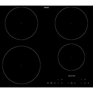 neue 60cm 4 Zone Induction Hob with Touch Control Black IH602FL