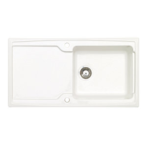 Astracast Ardenne 1.0 Bowl Ceramic White Inset Sink