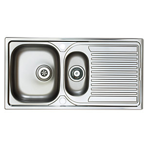 Astracast Aegean 1.5 Bowl Stainless Steel Inset Sink