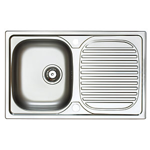 Astracast Aegean Compact 1 Bowl Stainless Steel Inset Sink