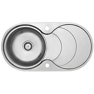 Astracast Cascade 1 Bowl Stainless Steel Inset Sink