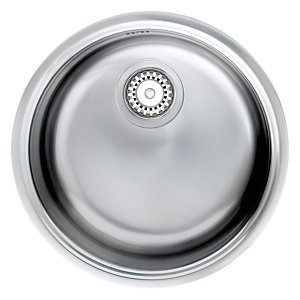 Astracast Onyx Single Round Bowl Stainless Steel Undermount Sink