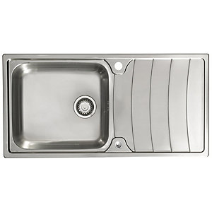 Astracast Wave 1 Bowl Stainless Steel Inset Sink