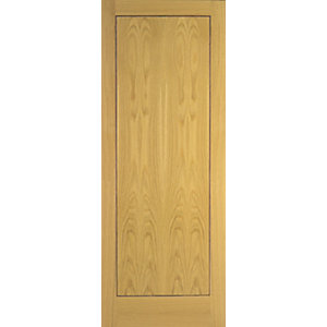 Internal 1 Panel Oak Flush Veneer 30 Min Fire Door