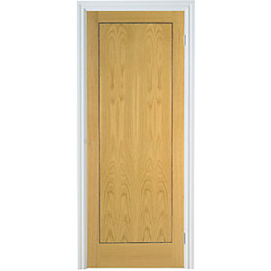 Internal 1 Panel Oak Flush Veneer Door