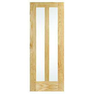 Internal 2 Panel Oak Glazed Door