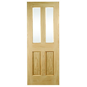 Internal 4 Panel Oak Glazed Door