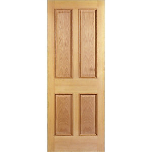 Internal 4 Panel Oak Raised Mouldings Door