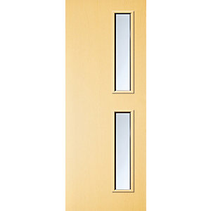 Internal Ash Flush Veneer 30 Min Fire Door 16G Glazed Door