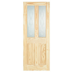 Internal Clear Pine 4 Panel Glazed Door