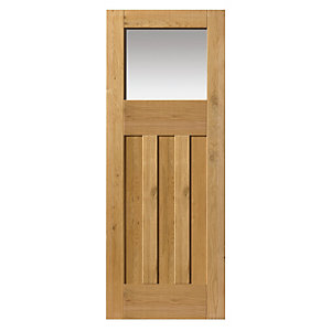 Oak Rustic Dx Prefinished Glazed Internal Door 35 x 1981 x 762mm