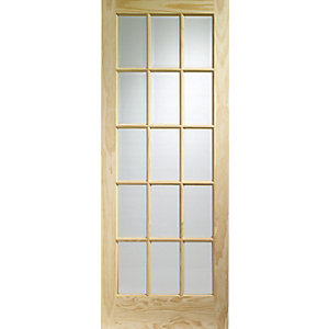 Internal Glazed SA77 Clear Pine Door