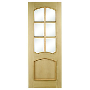 Internal Louis Oak Glazed Door