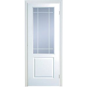 Internal Moulded 2 Panel Half Light Glazed Door