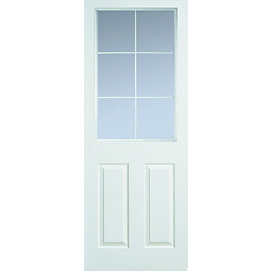 Internal Moulded 6 Light Glazed Grained Door