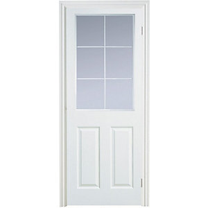 Internal Moulded 6 Panel Smooth Glazed Door