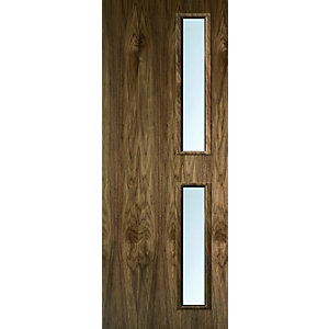 Internal Walnut Veneer 16G Glazed 30 Min Fire Door