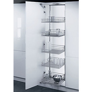 Larder Mesh Base Pull Out Mechanism Chrome 500mm