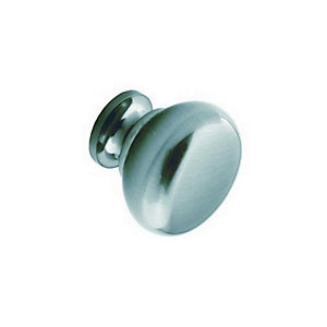 Handle Option 17 Plain Knob (Stainless Steel Effect) 30mm