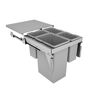 Stanto Pull Out Bin (1 x 24 Litres, 3 x 8 Litres) - Door Mounted (500mm)