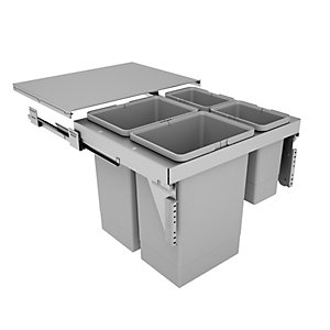 Stanto Pull Out Bin (2 x 24 Litre, 2 x 8 Litre) - Door Mounted (600mm)