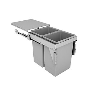 Stanto Pull Out Bin (2 x 24 Litres) - Door Mounted (400mm)