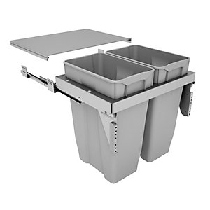 Stanto Pull Out Bin (2 x 35 Litre) - Door Mounted (600mm)