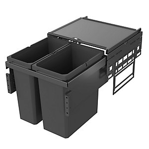 Vauth Sagel Envi Space Pull Out Bin 1 x 21 Litre & 1 x 28 Litre - For 500 Fascia