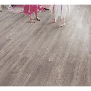 Elka Laminate Pebble Oak Flooring 1261 x 190 x 8mm Pack Size 2.162m2
