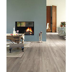 Quick Step Impressive Sawcut Oak Grey Laminate Flooring 1380 x 190 x 8mm Pack Size 1.835m2