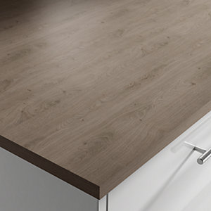 Wilsonart Richmond Grey Oak Breakfast Bar 3000 x 900 x 22mm Square Laminate Edge