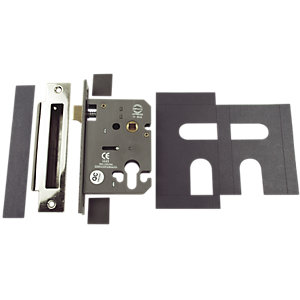 ERA Mortice Sashlock Euro Profile with Plates Stainless Steel 76mm FD020