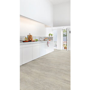 Quick Step Luxury Rigid Vinyl Light Grey Travertine