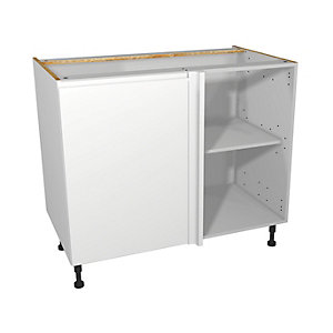 Self Assembly Kitchens Madison White 1000 Highline Corner Base + 500 Fascia