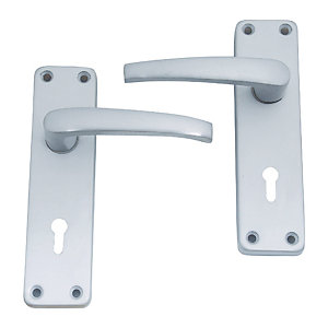 4Trade Manila Lever Lock Furn Satin Anodised Aluminium
