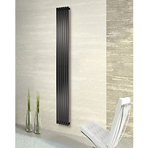 Merlo Vertical Anthracite Radiator 1800mm x 310mm