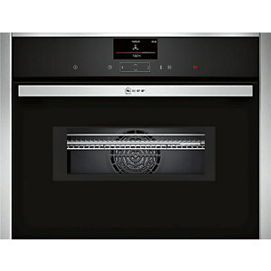 Neff Compact Built-in Oven Stainless Steel with integral microwave - C17MS32N0B