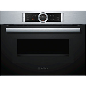 Bosch Serie 8 Compact Oven with Microwave and LED Lighting Stainless Steel CMG633BS1B