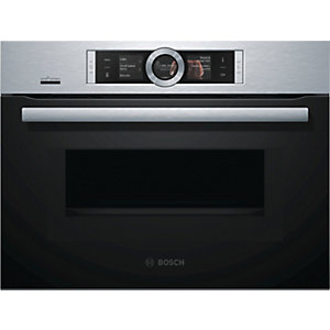 Bosch Serie 8 Home Connect Compact Oven & Microwave With Tft Touchscreen Stainless Steel Cmg676Bs6B