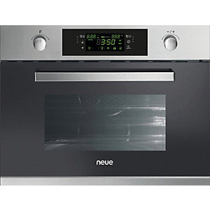 Neue Compact Integrated Microwave With Grill Stainless Steel Neg440X